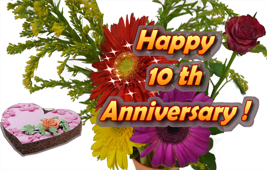 Happy Tenth Anniversary Greetings.