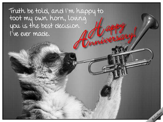 Toot my horn free happy anniversary ecards greeting cards
