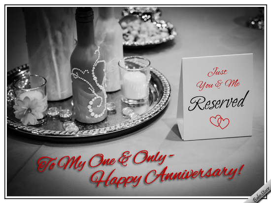 To my one and only free happy anniversary ecards greeting cards