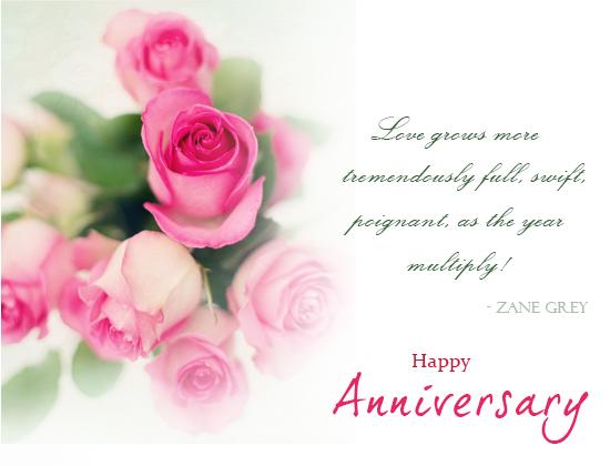 Anniversary Rose Flowers. Free Happy Anniversary ECards