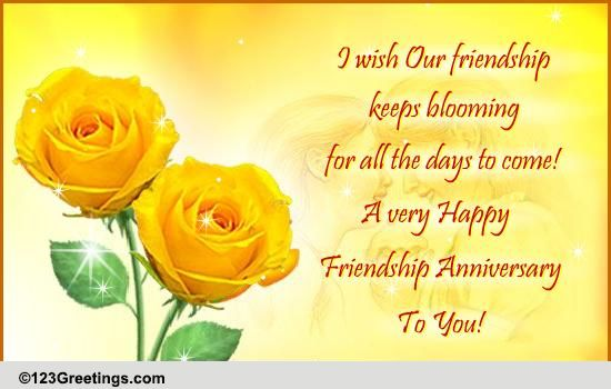 Happy friendship anniversary free happy anniversary ecards 123 happy friendship anniversary free happy anniversary ecards 123 greetings m4hsunfo