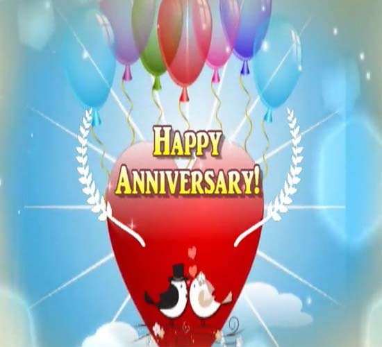 Happy anniversary greeting card free