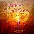 Happy Anniversary Love Candle.