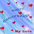 Happy Anniversary With Love Balloons.