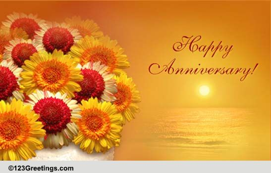 Wedding anniversary wishes free flowers ecards greeting cards