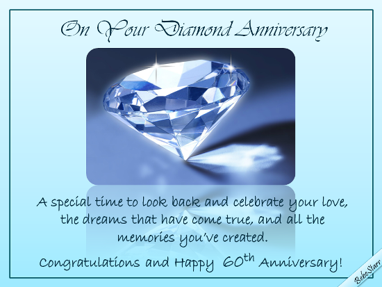 Diamond Anniversary Wishes Free Milestones Ecards Greeting Cards