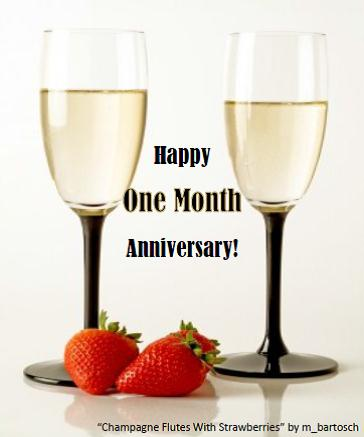 happy one month anniversary ecard