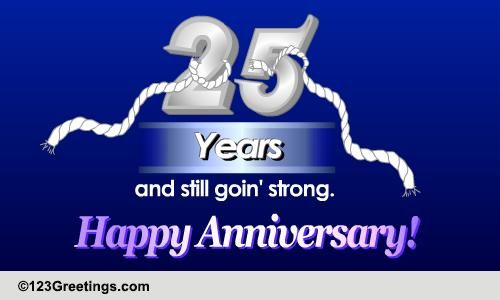 Happy Silver Jubilee Free Milestones Ecards Greeting Cards 123