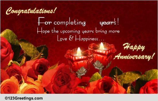 Special Anniversary Card Free Milestones Ecards Greeting