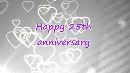 What Gift Do You Give For 25th Wedding Anniversary: Happy 25th Wedding Anniversary. Free Milestones ECards
