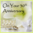 Pearl Anniversary Wishes.