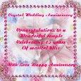 Crystal Wedding Anniversary!