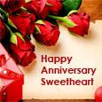 Happy Anniversary Sweetheart.