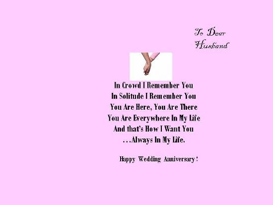 Happy Wedding Anniversary To Hubby.