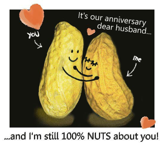 Anniversary Nuts For Husband.