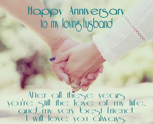 Happy Anniversary Husband.