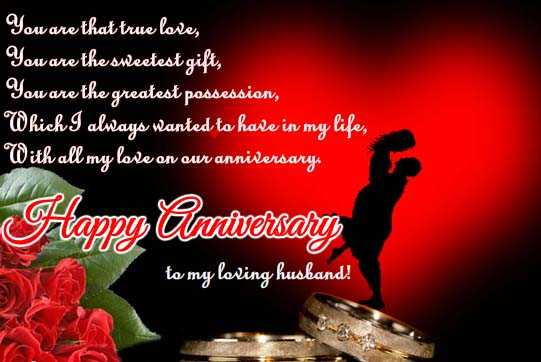 With all my love on our anniversary free for him ecards