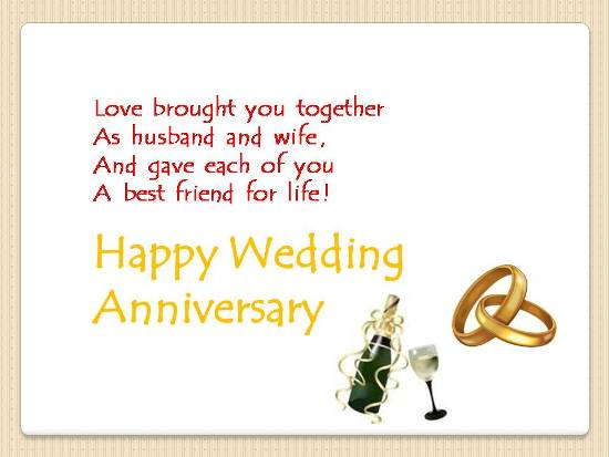 Warm wedding anniversary wishes free to a couple ecards