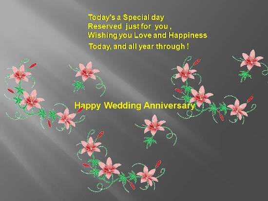 Beautiful wedding anniversary wishes. free to a couple ecards 123
