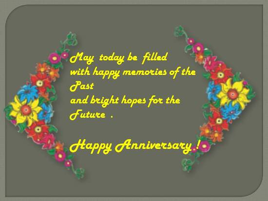 Wishes For A Happy Anniversary.