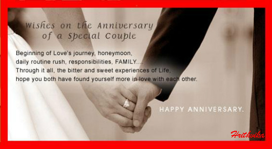 A Lovely Anniversary Wish.