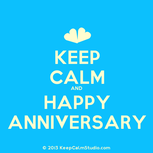 Keep Calm And Happy Anniversary.