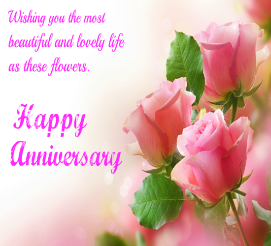 Wedding Anniversary Wishes: Wishing You A Happy Anniversary. Free To A Couple ECards