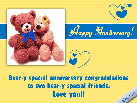 Beary Special Congratulations!