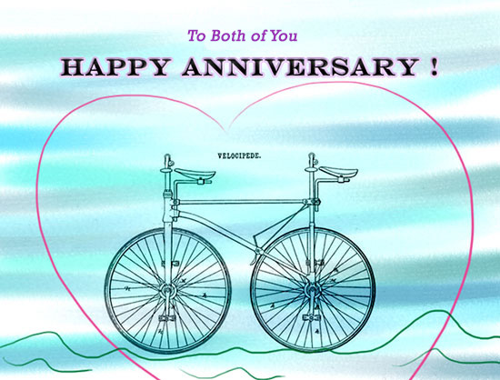 Happy Anniversary To Both Of You! Free To a Couple eCards | 123 Greetings