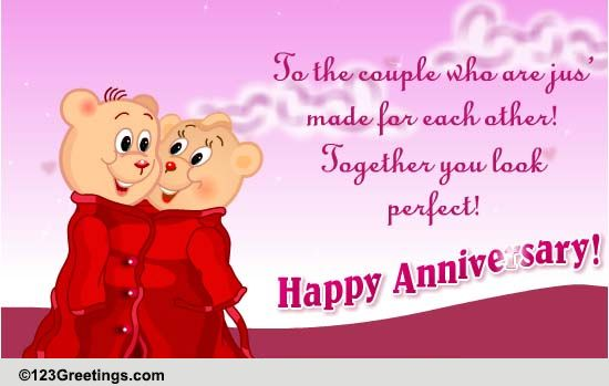 Happy Anniversary, Couple... Free To A Couple ECards