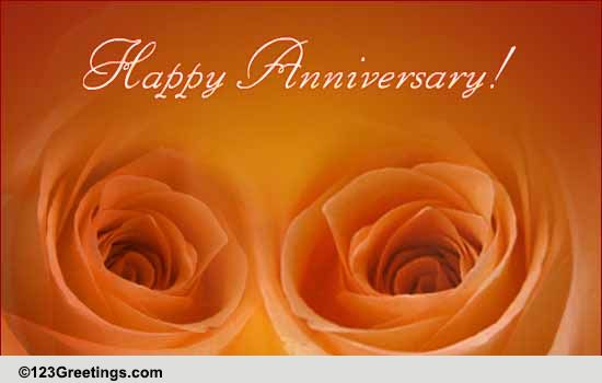 Wedding anniversary special free to a couple ecards greeting