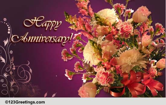 Wedding Gifts For Jiju : Anniversary Bouquet! Free To a Couple eCards, Greeting Cards 123 ...