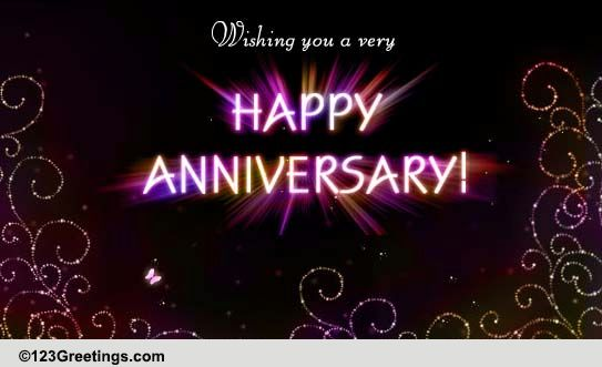 sparkling anniversary wish free to a couple ecards greeting