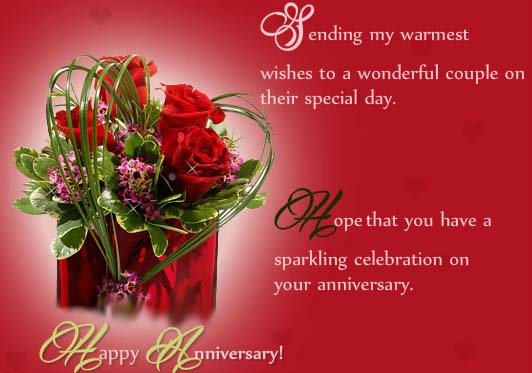Have a sparkling anniversary free to couple ecards