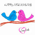 Happy Anniversary Lovebirds!