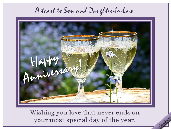 Anniversary Toast Free Family Wishes ECards Greeting Cards