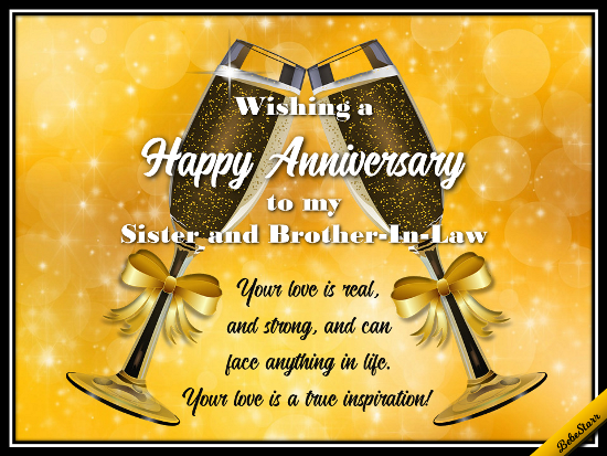 free wedding anniversary cards for sister and brother in law