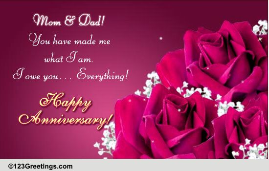 Wedding Anniversary Messages For Mom N Dad