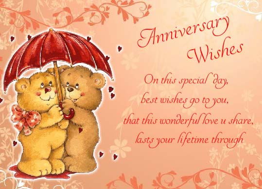 Happy Anniversary Wishes For You. Free Family Wishes