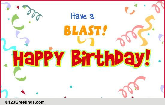 Birthday Wishes For Brother Cards Have A Blast! Free Cak...