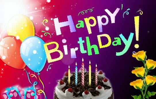 Animated Happy Birthday Ecard. Free Cakes & Balloons eCards | 123 Greetings