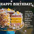 Birthday Cake Wishes.