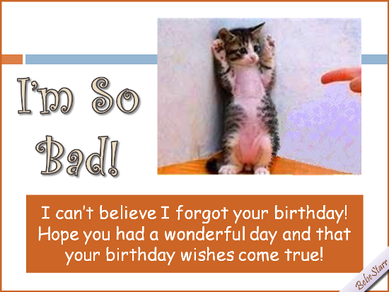 Free Belated Birthday Wishes ECards Greeting Cards
