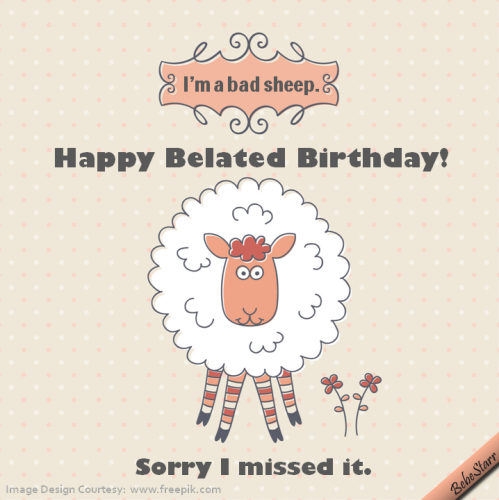 Bad Sheep Free Belated Wishes eCards Greeting Cards – 123 Greetings Belated Birthday