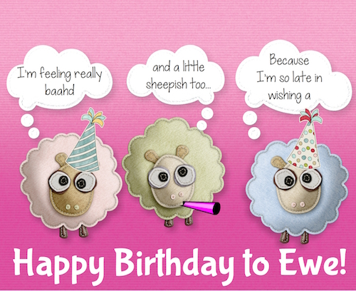Belated Birthday To Ewe!