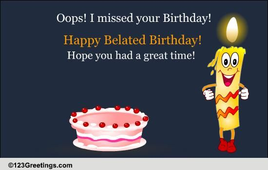 Birthday Belated Wishes Cards Free Birthday Belated Wishes eCards – Free Belated Birthday Cards
