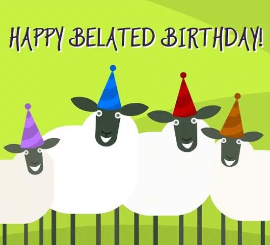 belated birthday sheep dance  free belated birthday wishes