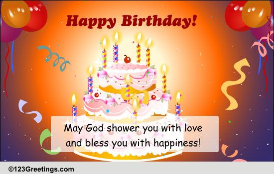 Sparkling Birthday Blessings Free Birthday Blessings ECards