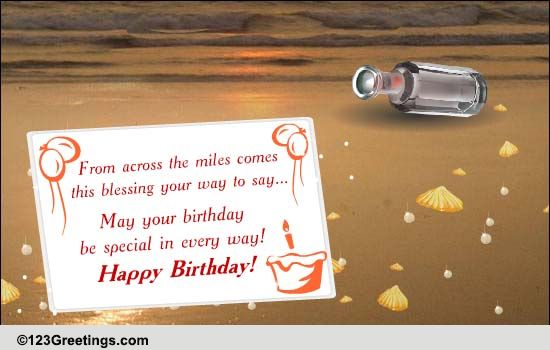 B Day Message In A Bottle Free Birthday Blessings Ecards