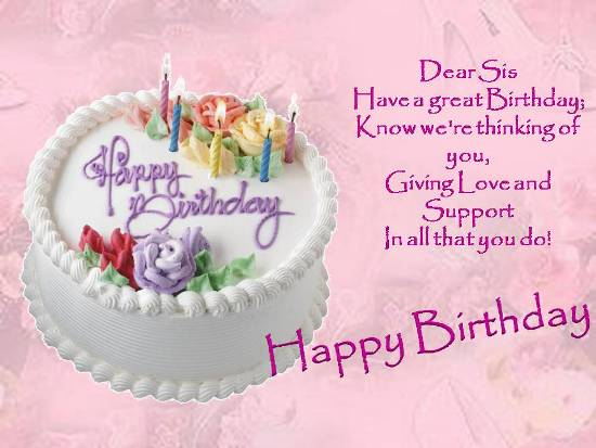 Birthday Wishes For Your Dear Sister Free Brother Sister eCards – Birthday Greeting for Sister